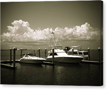 Harbor Boats Canvas Print by Marilyn Hunt