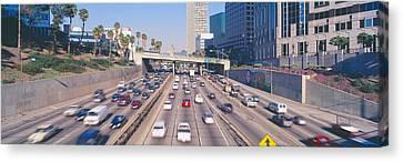 Harbor Freeway At Rush Hour, Los Canvas Print by Panoramic Images