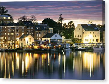 Harbor Lights Canvas Print by Eric Gendron