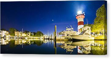 Harbor Town Yacht Basin Light House Hilton Head South Carolina Canvas Print by Dustin K Ryan