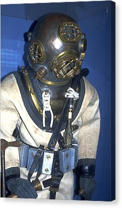 Hard Hat Diving Suit Canvas Print by Carl Purcell