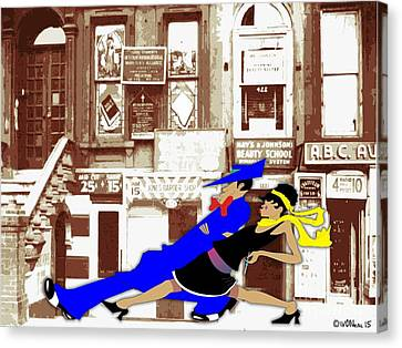 Harlem Strut Canvas Print by Walter Oliver Neal