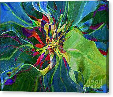 Harlequin Poinsettia Canvas Print by RC DeWinter