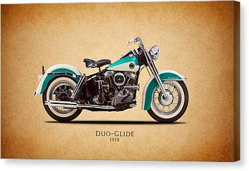 Harley-davidson Duo-glide 1958 Canvas Print by Mark Rogan