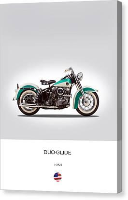 Harley-davidson Duo-glide Canvas Print by Mark Rogan