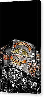 Harley Davidson Russia Club Canvas Print by Stefano Senise