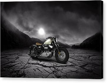 Harley Davidson Sportster Forty Eight 2013 Mountains Canvas Print by Aged Pixel