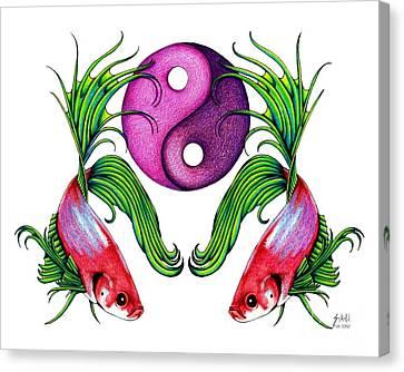 Harmony Together Canvas Print by Sheryl Unwin