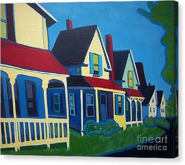 Harpswell Cottages Canvas Print by Debra Bretton Robinson
