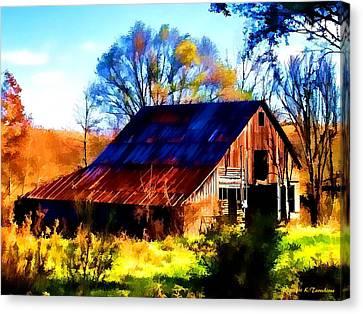 Harrison Barn Canvas Print by Kathy Tarochione