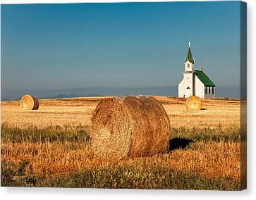 Harvest Church Canvas Print by Todd Klassy