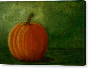Harvest Moon Pumpkin Canvas Print by Cheryl Albert