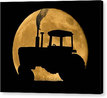 Harvest Moon Canvas Print by Shane Bechler