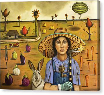 Harvey And The Eccentric Farmer Canvas Print by Leah Saulnier The Painting Maniac