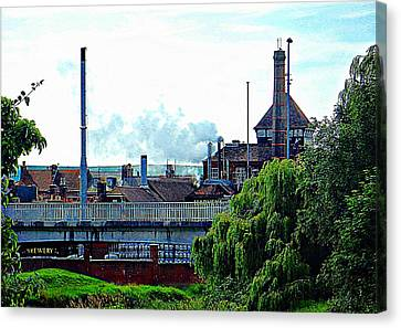 Harveys Brewery Lewes Rear View Canvas Print by Dorothy Berry-Lound