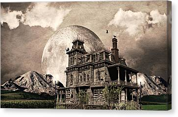 Haunted Haven Canvas Print by Ally  White