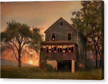 Haunted House Canvas Print by Lori Deiter