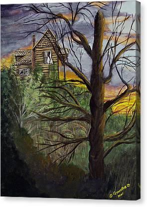 Haunted House Canvas Print by Quwatha Valentine