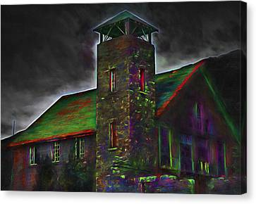 Haunted Old Mill 2 - Painterly Version Canvas Print by Steve Ohlsen