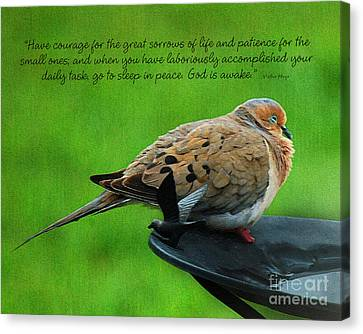 Have Courage  Canvas Print by Diane E Berry