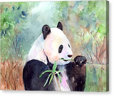 Having A Snack Canvas Print by Arline Wagner