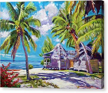 Hawaii Beach Shack Canvas Print by David Lloyd Glover