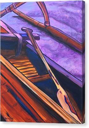 Hawaiian Canoe Canvas Print by Marionette Taboniar