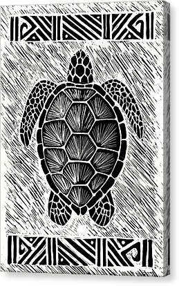 Hawaiiana Honu Canvas Print by Kirsten Carlson