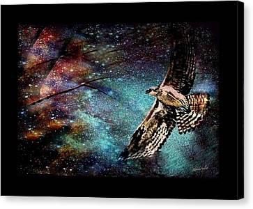 Hawk At Night Canvas Print by YoMamaBird Rhonda