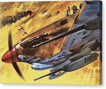 Hawker Hurricane Canvas Print by Wilf Hardy