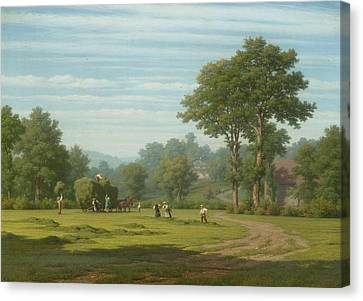 Hay Harvest Canvas Print by Znd Robert