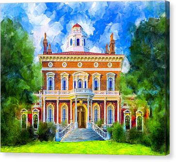 Hay House - Historic Macon Georgia Canvas Print by Mark Tisdale