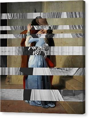 Hayes's The Kiss And Vivien Leigh With Clark Gable Canvas Print by Luigi Tarini
