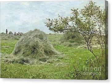 Haystacks Canvas Print by MotionAge Designs