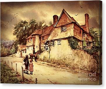 Hazelmere Cottage - English Lake District Canvas Print by Lianne Schneider