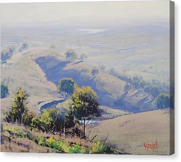 Hazy Morning Lake Windamere Canvas Print by Graham Gercken