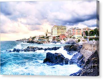 Hdr Seascape Canvas Print by Stefano Gervasio