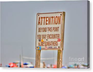 Hdr Sunbather Sign Beach Beaches Ocean Sea Photos Pictures Buy Sell Selling New Photography Pics  Canvas Print by Pictures HDR