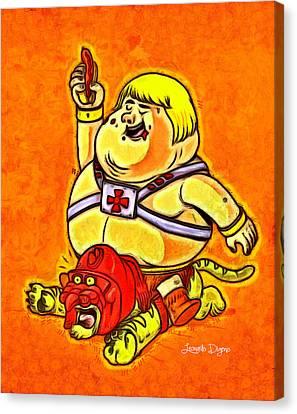 He-man - Da Canvas Print by Leonardo Digenio