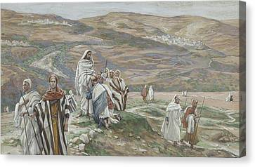 He Sent Them Out Two By Two Canvas Print by Tissot