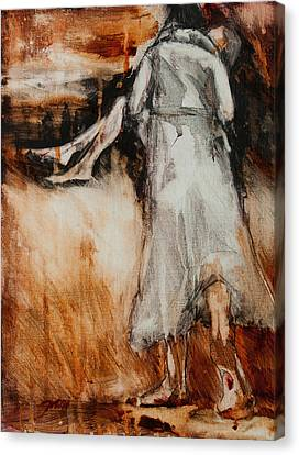 He Walks With Me Canvas Print by Jani Freimann
