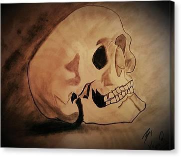 Head Canvas Print by Kiran Kumar