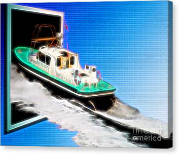 Heading Back To Sea Canvas Print by Sue Melvin