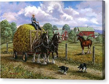Heading For The Loft Canvas Print by Richard De Wolfe