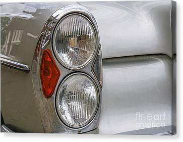 Headlights Of Vintage Car Canvas Print by Patricia Hofmeester