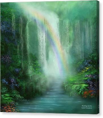 Healing Grotto Canvas Print by Carol Cavalaris