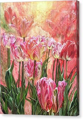 Healing Tulip Garden Canvas Print by Carol Cavalaris