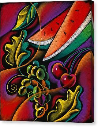 Healthy Fruit Canvas Print by Leon Zernitsky