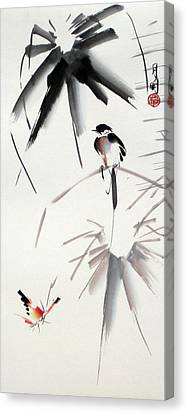 Hearing Rain  Canvas Print by Ming Yeung