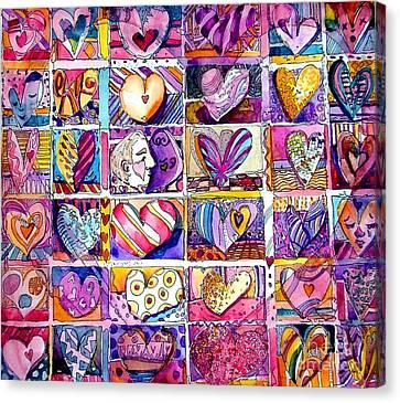 Heart 2 Heart Canvas Print by Mindy Newman